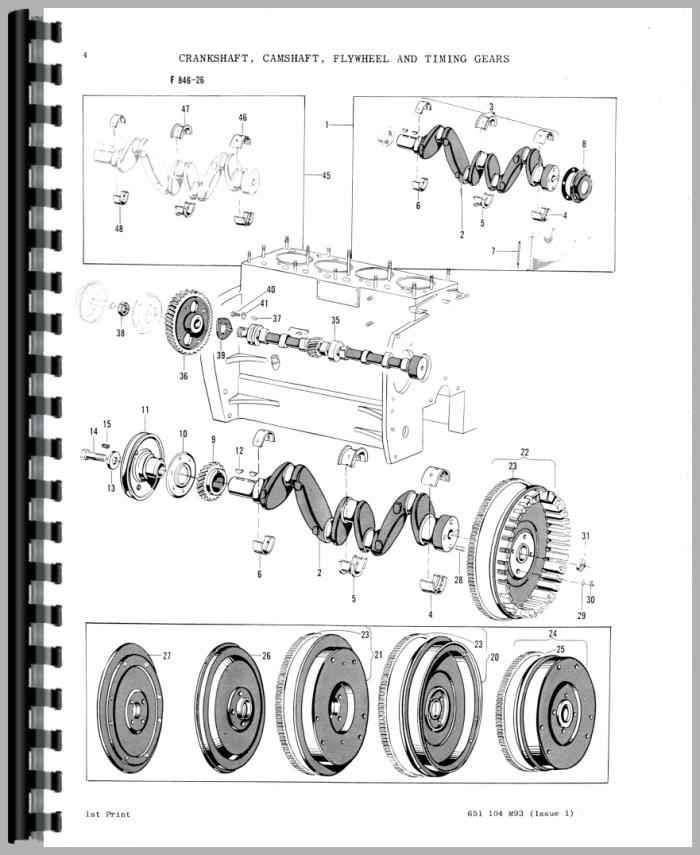 Massey Ferguson 203 Industrial Tractor Parts Manual