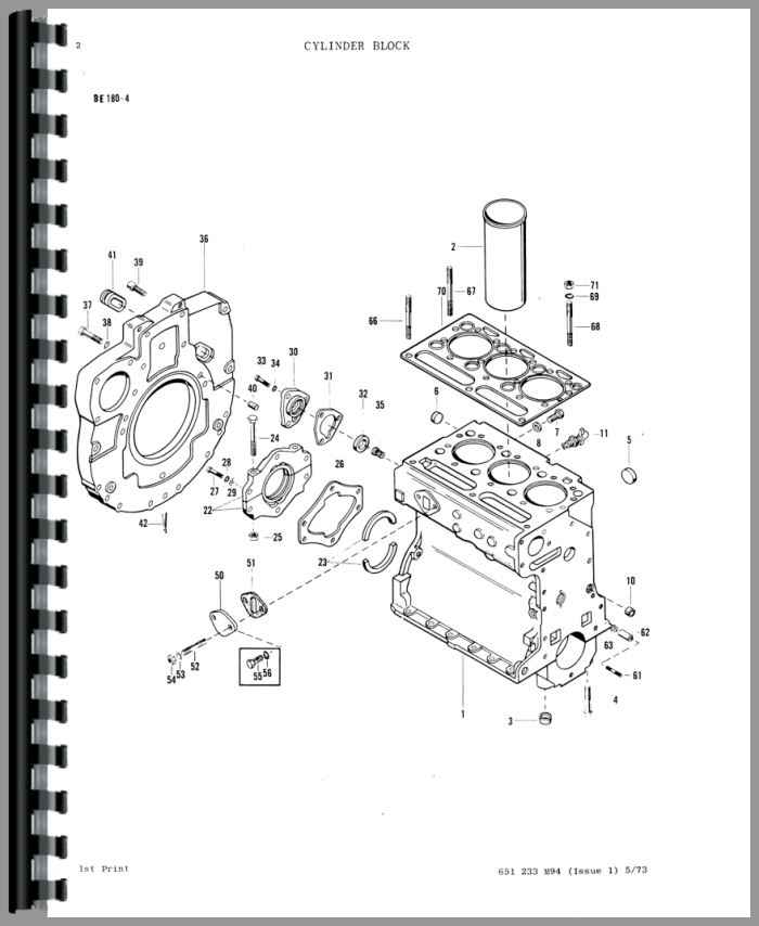 Massey Ferguson 2200 Industrial Tractor Parts Manual