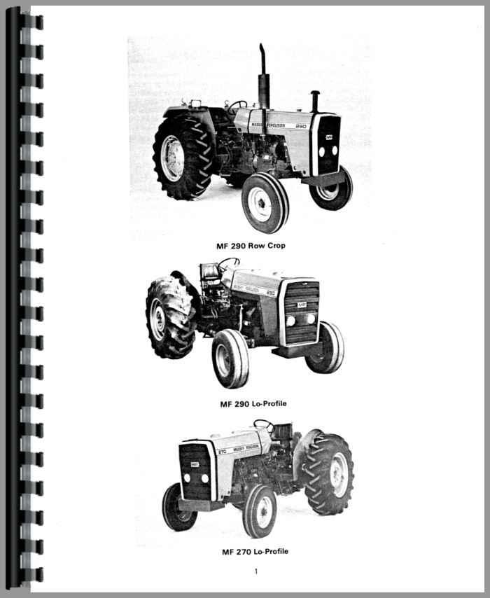 Massey Ferguson 270 Tractor Operators Manual