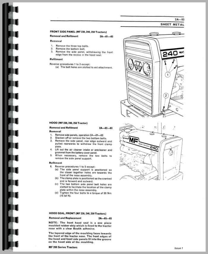 Massey Ferguson 270 Tractor Service Manual