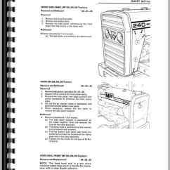 Massey Ferguson 240 Parts Diagram Eukaryotic Plant Cell 298 Tractor Service Manual