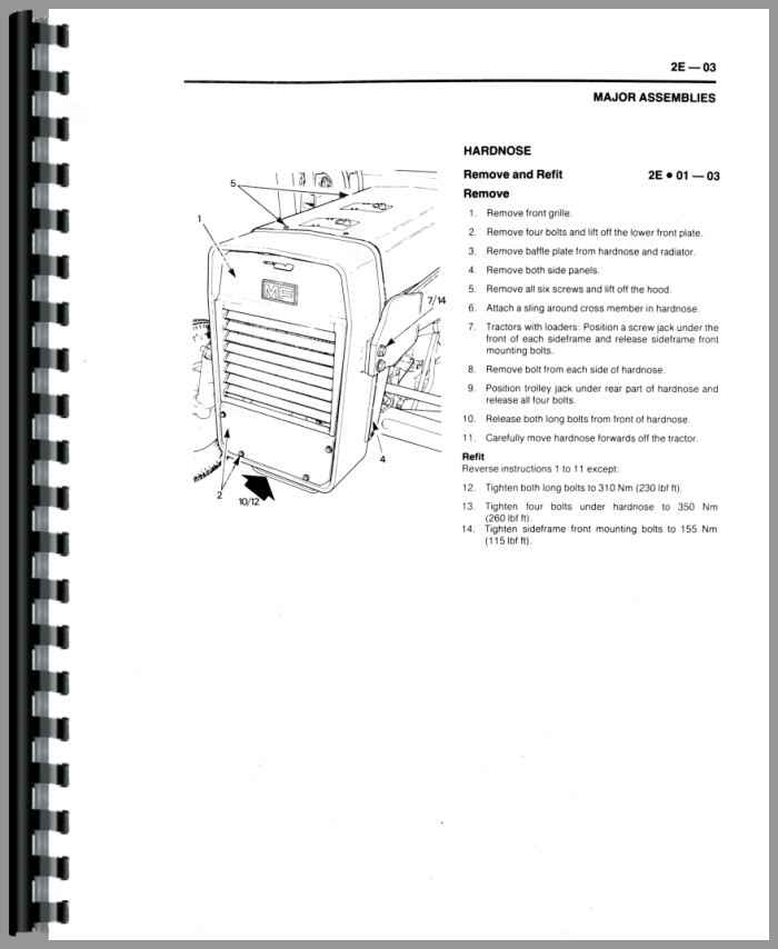 Massey Ferguson 30E Tractor Loader Backhoe Service Manual