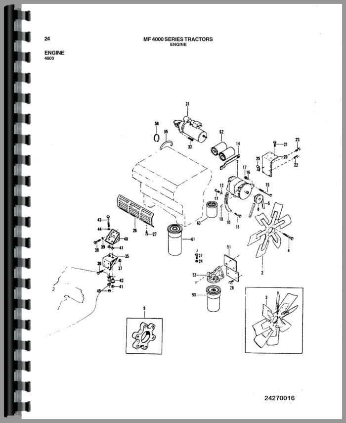 Massey Ferguson 4800 Tractor Parts Manual