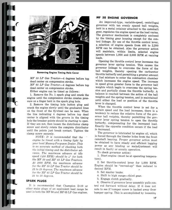 Massey Ferguson 50 Tractor Operators Manual