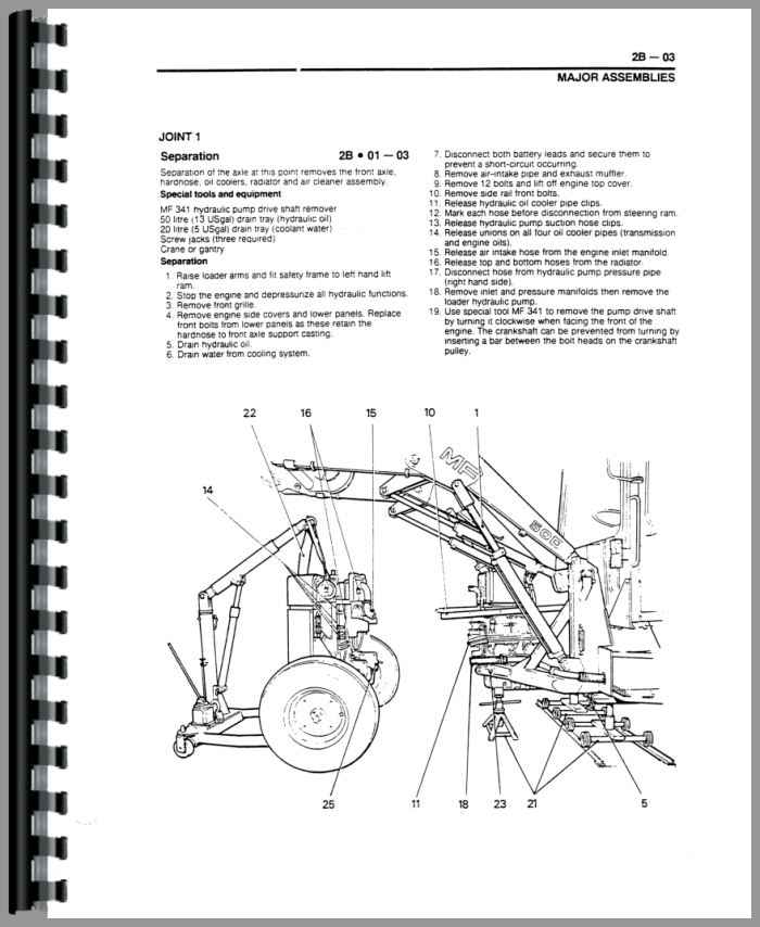 Massey Ferguson 60HX Tractor Loader Backhoe Service Manual