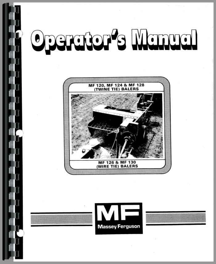 Massey Ferguson 124 Baler Operators Manual