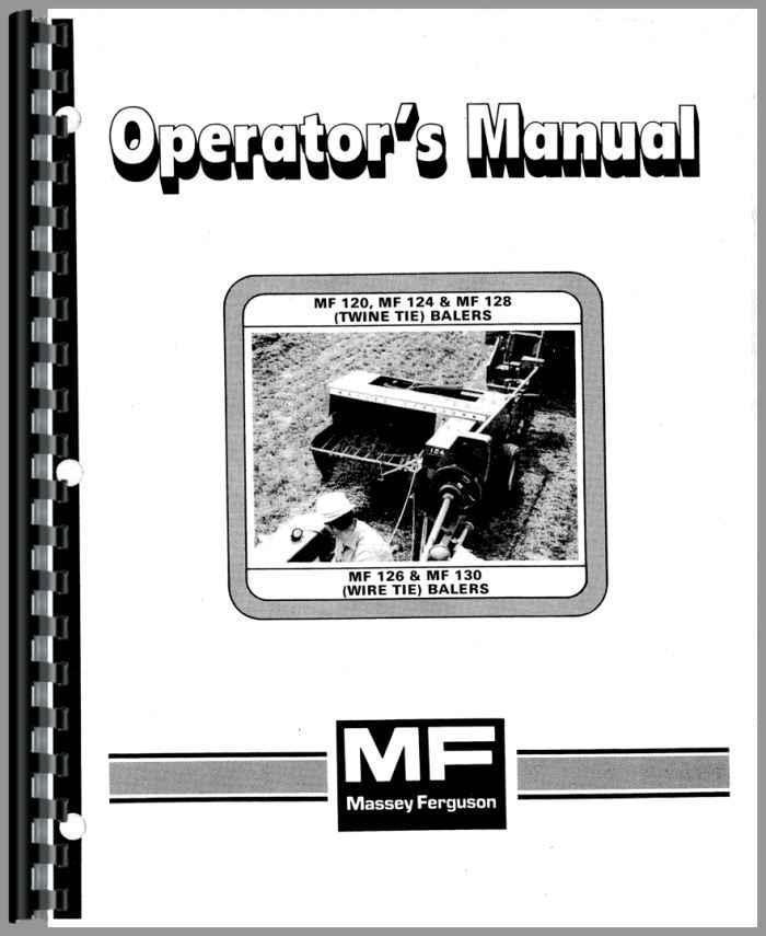 Massey Ferguson 124 Baler Operators Manual