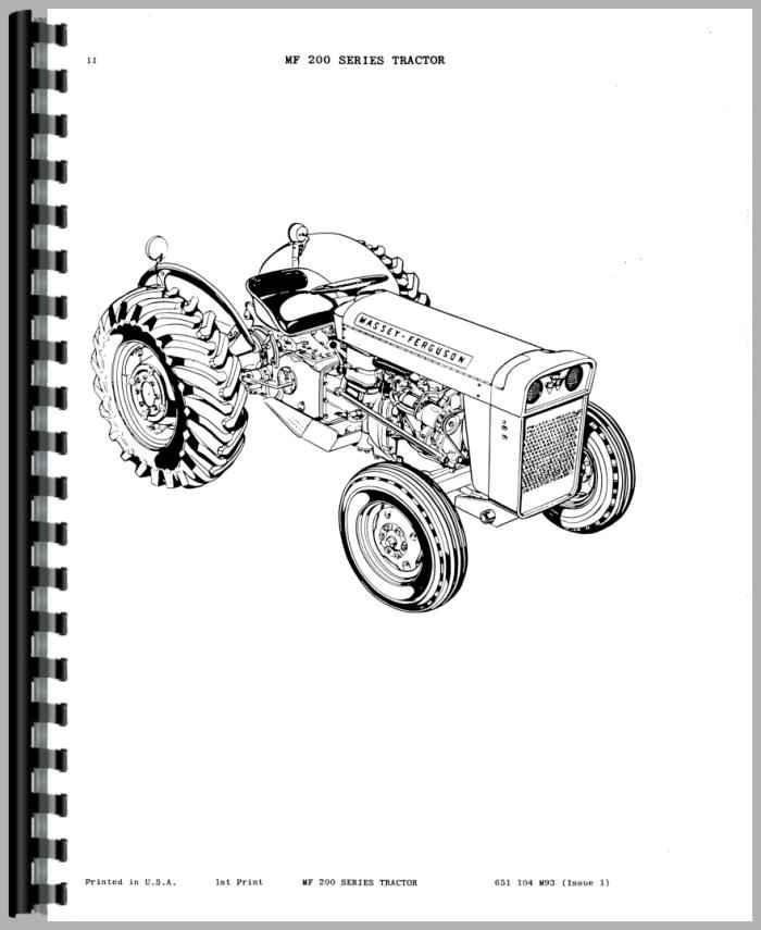 Massey Ferguson 202 Tractor Parts Manual