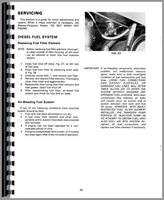 Massey Ferguson 230 Tractor Operators Manual