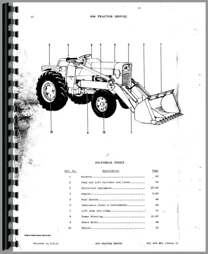 Massey Ferguson 406 Tractor Parts Manual