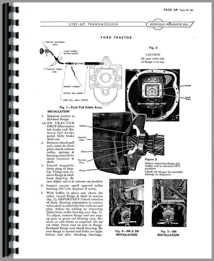 Ferguson TO30 Sherman Transmission Service Manual