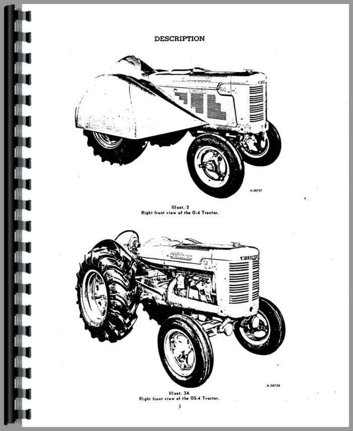 Mccormick Deering O4 Tractor Operators Manual