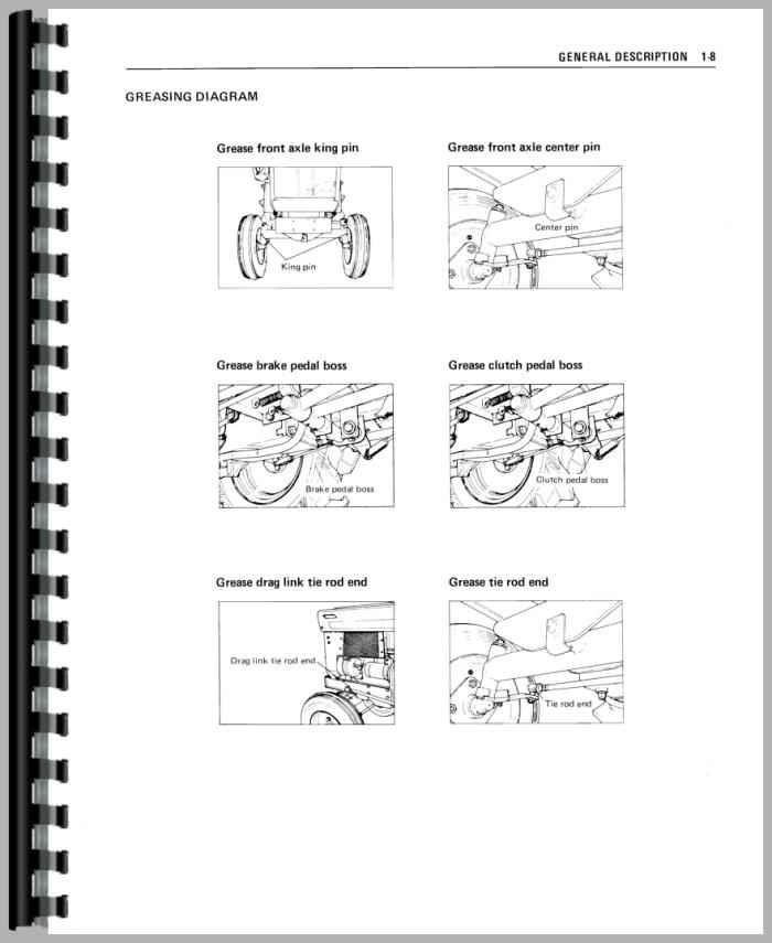 Mitsubishi D1300 Tractor Service Manual