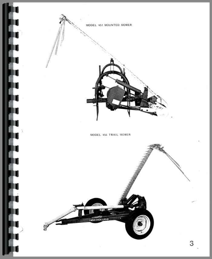 New Holland 456 Sickle Bar Mower Parts Manual
