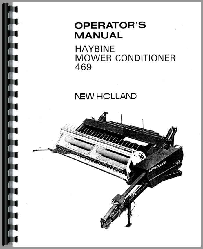 New Holland 469 Haybine Operators Manual