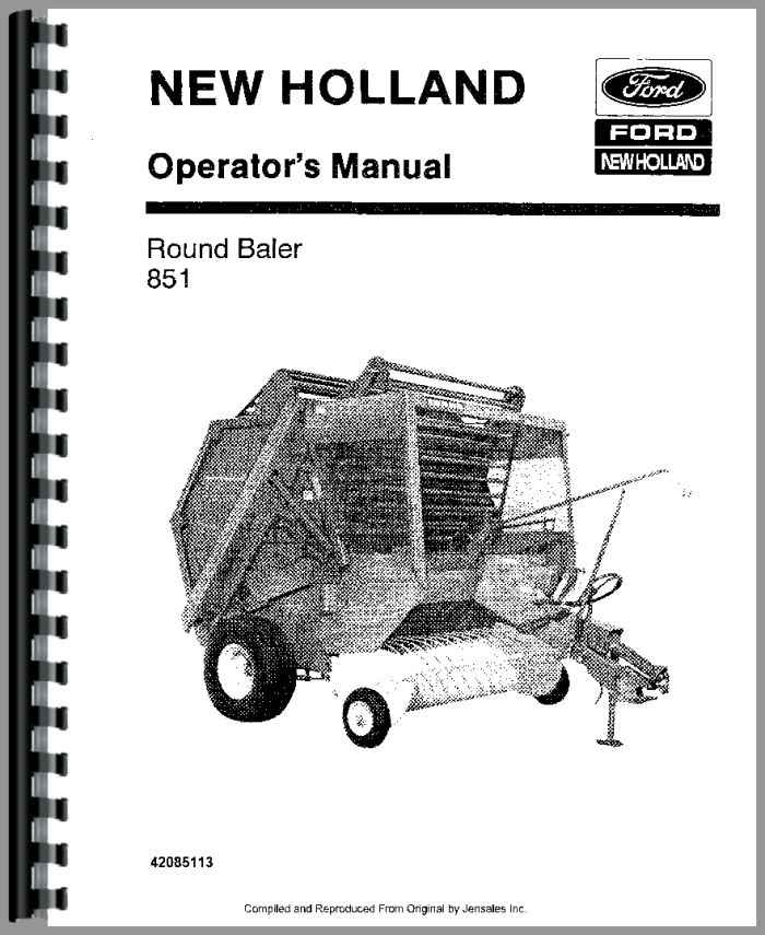 New Holland 851 Baler Operators Manual