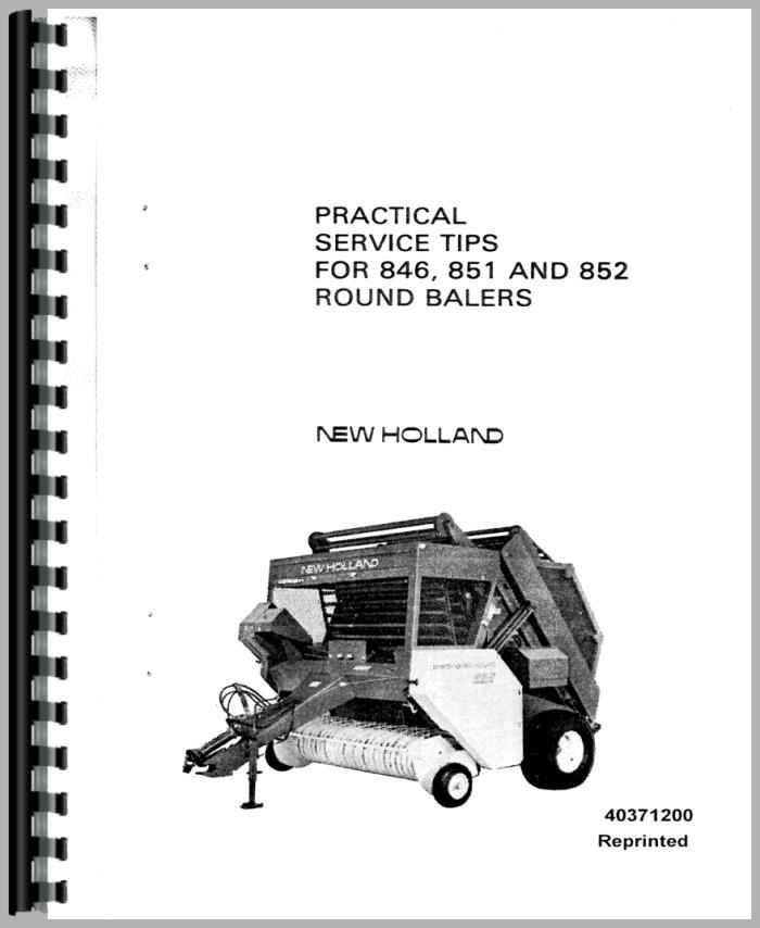 New Holland 851 Baler Service Manual
