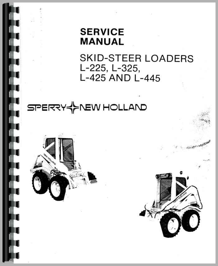 New Holland L325 Skid Steer Service Manual