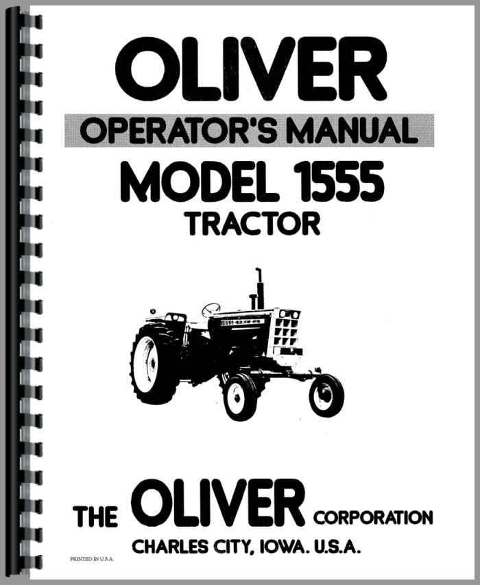 Oliver 1555 Tractor Operators Manual