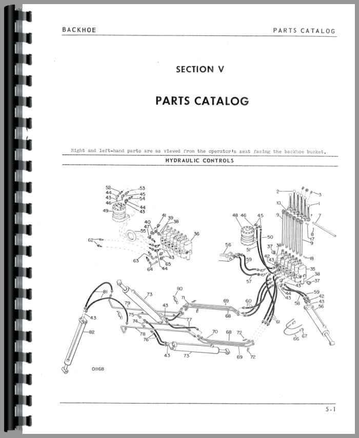 Oliver 1600 Backhoe Attachment Parts Manual