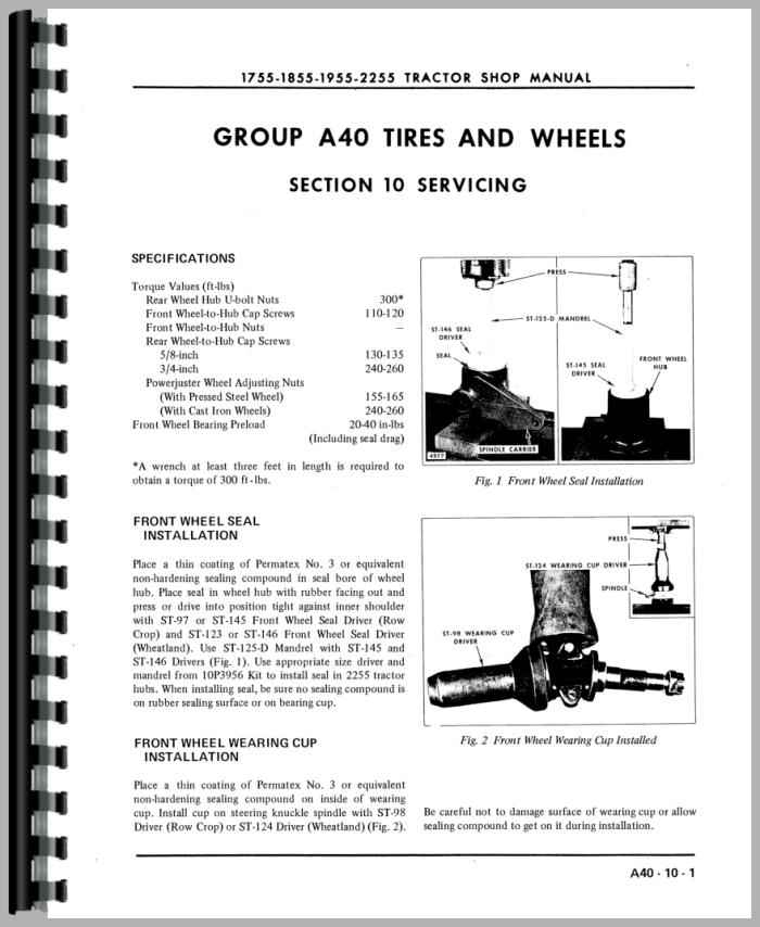 Oliver 1755 Tractor Service Manual