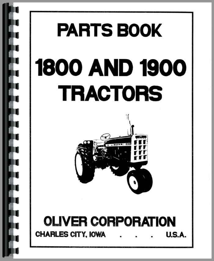 Oliver 1900 Tractor Parts Manual
