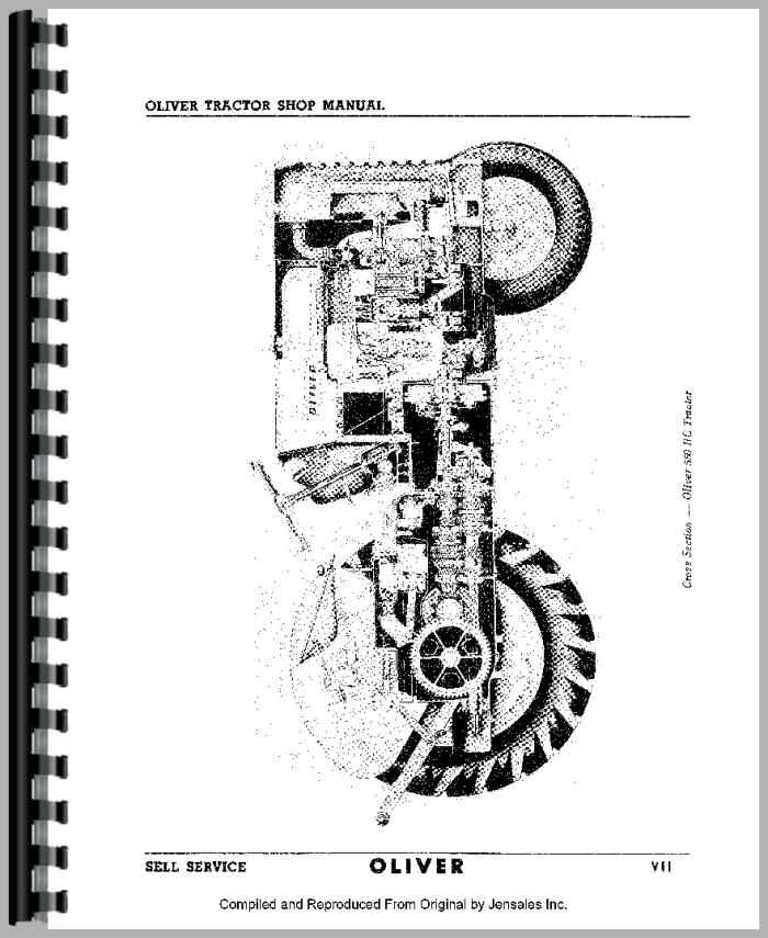 Oliver 770 Tractor Service Manual