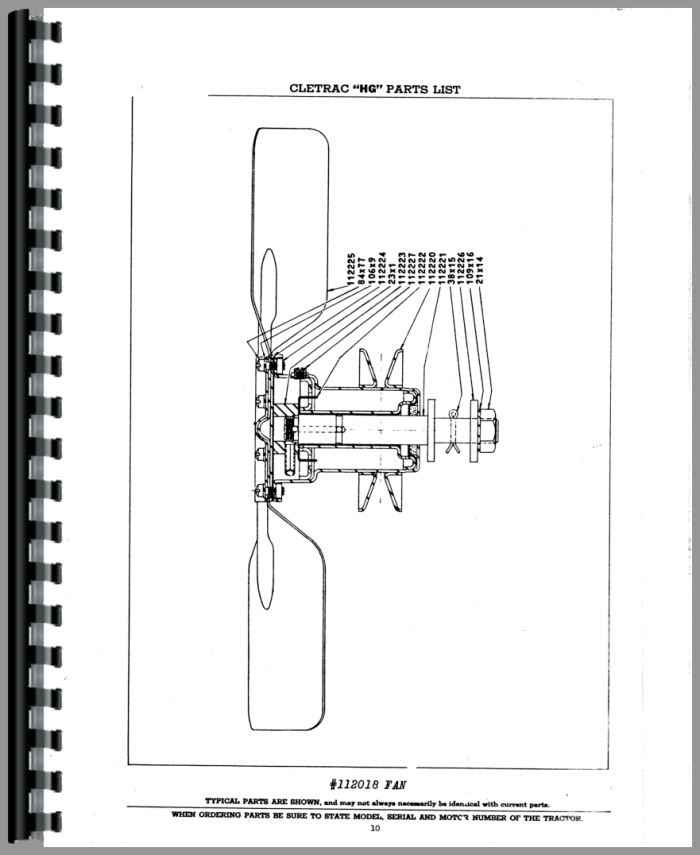 Oliver HG Cletrac Crawler Parts Manual