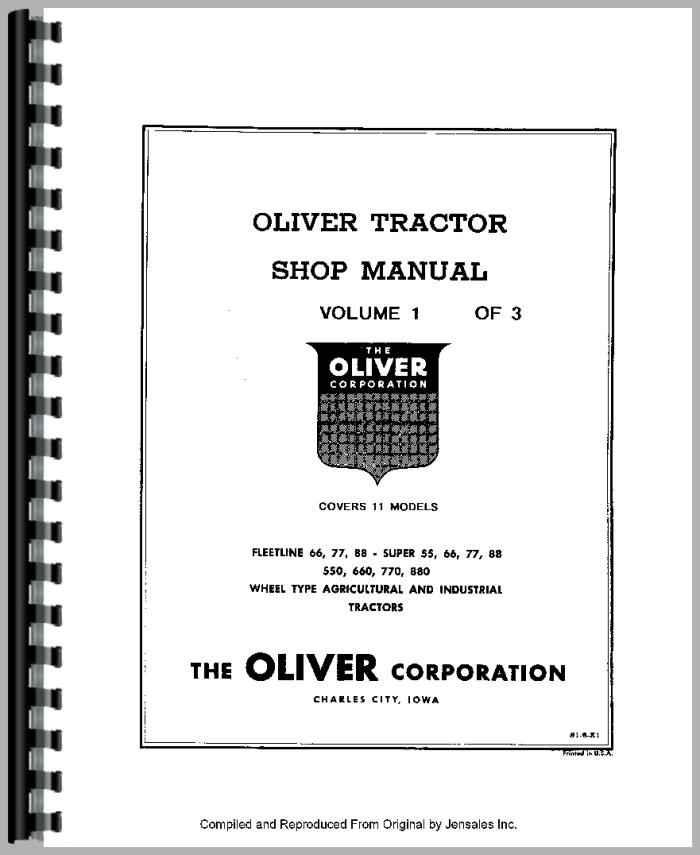 oliver super 55 manual