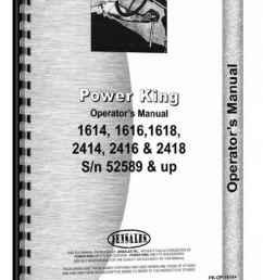 power king 1614 1616 1618 2414 2416 2418 tractor operators parts manual [ 897 x 1280 Pixel ]