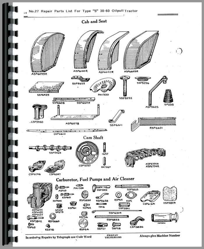 Rumely 30-60-S Oil Pull Tractor Parts Manual