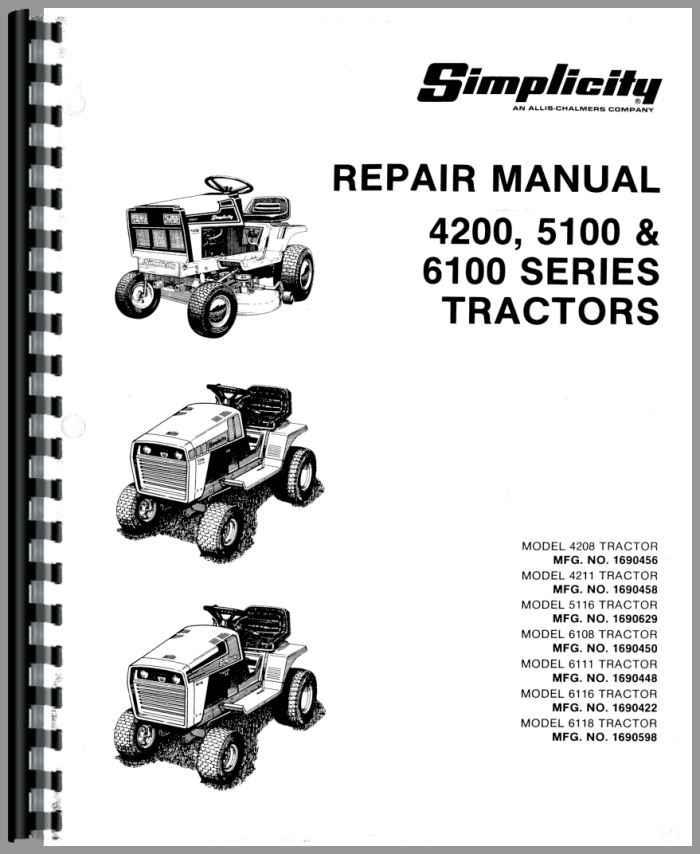 Simplicity 4208 Lawn & Garden Tractor Service Manual