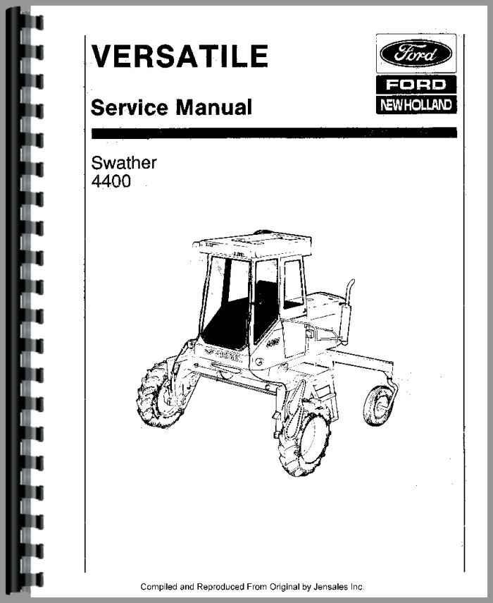 Versatile 4400 Tractor Service Manual