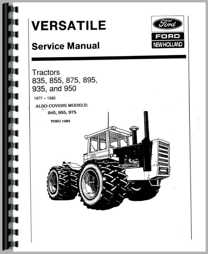 Versatile 875 Tractor Service Manual