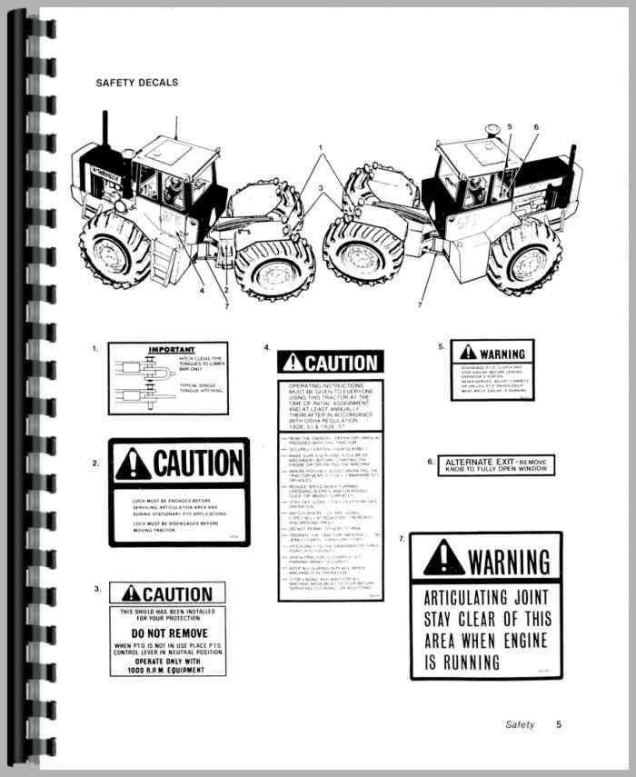 Versatile 895 Tractor Operators Manual