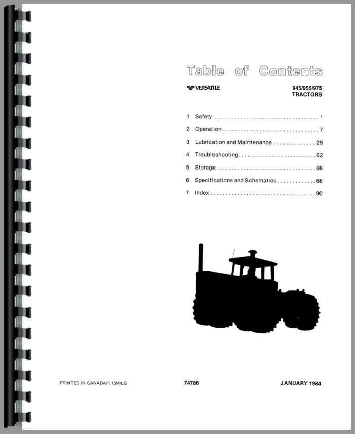 Versatile 975 Tractor Operators Manual
