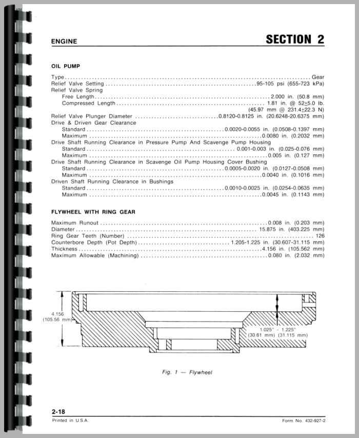 White 2-135 Tractor Service Manual