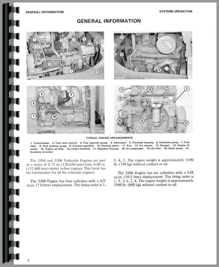 White 4-270 Caterpillar 3306 Engine Service Manual
