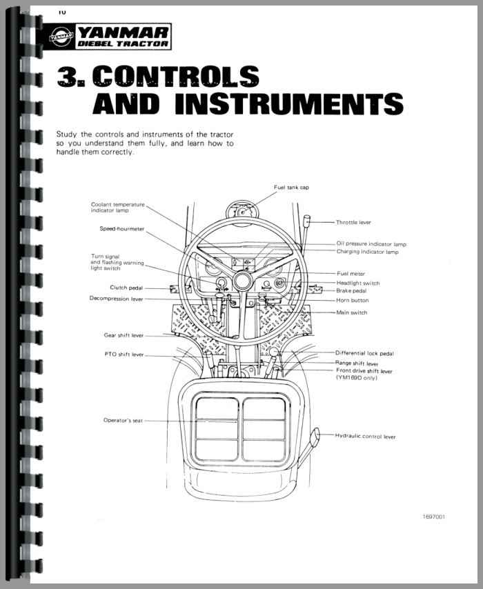 Yanmar YM169 Tractor Operators Manual