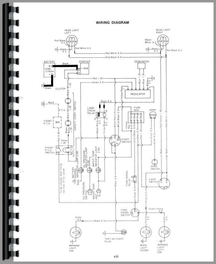 yanmar diesel tractor electrical diagram