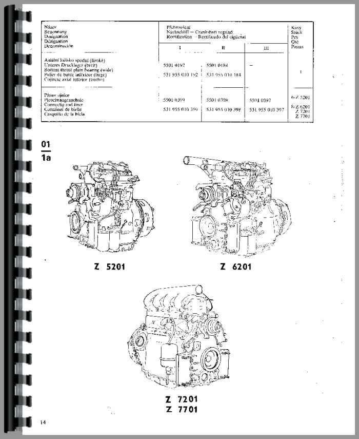 Zetor 7245H Tractor Parts Manual