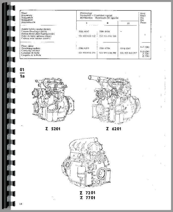 Zetor 7711 Tractor Parts Manual