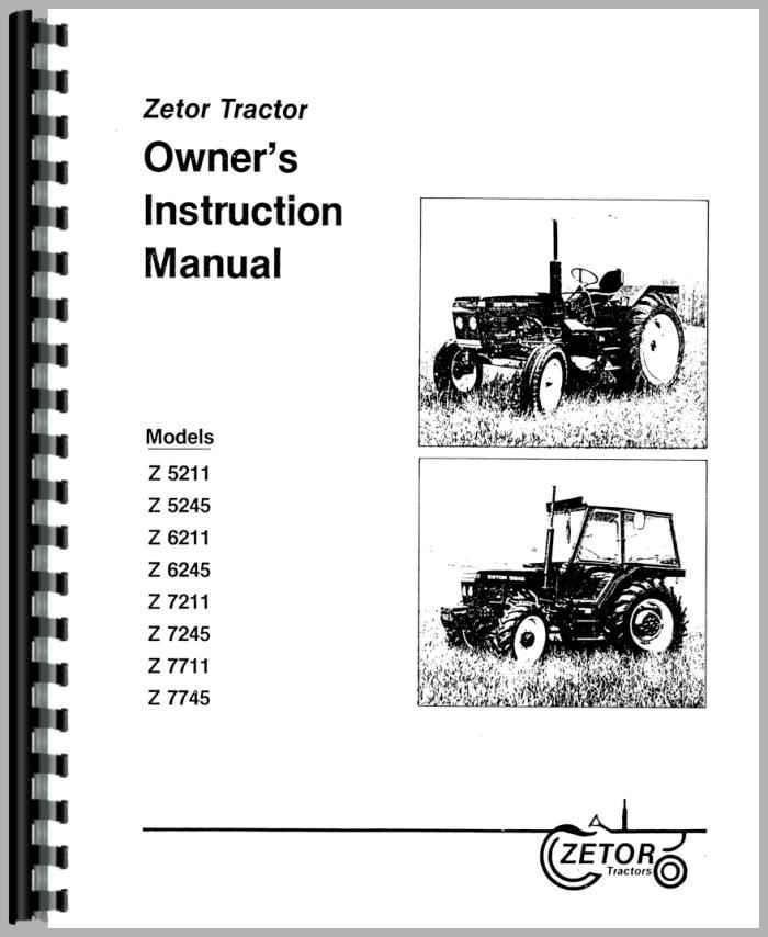 Zetor 7745 Tractor Operators Manual