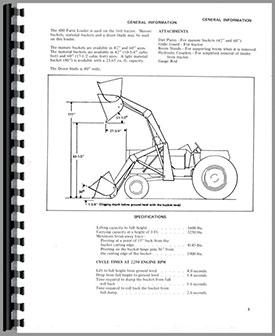 Allis Chalmers 400 Farm Loader Operators Manual