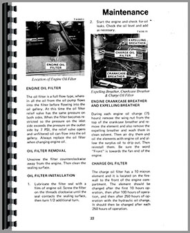Allis Chalmers 540 Articulated Loader Operators Manual
