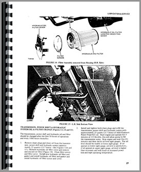 Allis Chalmers 7000 Tractor Operators Manual