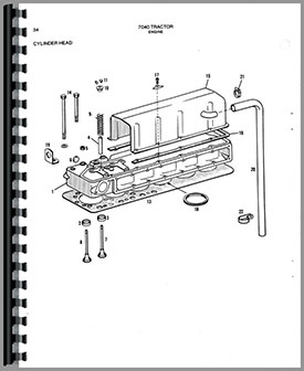 Allis Chalmers 7040 Tractor Parts Manual