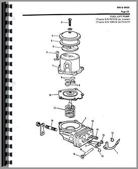 Allis Chalmers 840 Wheel Loader Parts Manual