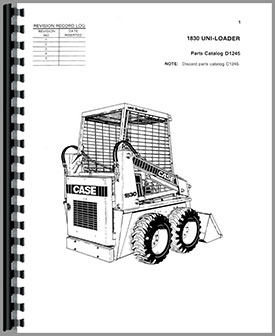 Case 1830 Uniloader Parts Manual