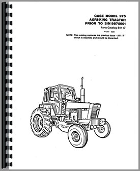 Case 970 Tractor Parts Manual